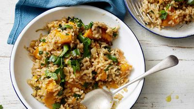 "Recipe: <a href=""http://kitchen.nine.com.au/2017/09/18/13/14/scott-goodings-pumpkin-risotto"" target=""_top"">Scott Gooding's 'no regrets' pumpkin risotto</a><br /> <br /> More: <a href=""http://kitchen.nine.com.au/2016/06/06/21/47/vegetarian-favourites-for-meatfreemonday"" target=""_top"">meat-free recipes</a>"