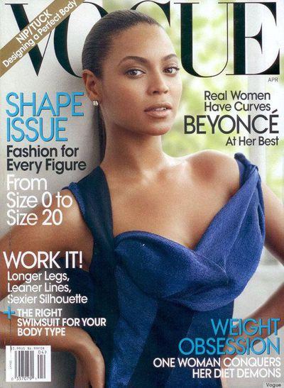 Beyoncé on the cover of<em>US Vogue</em> April 2009