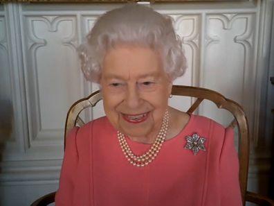 Queen Elizabeth on video call