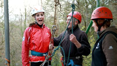 <p>The Duke and Duchess of Cambridge have enjoyed a day of abseiling while on their tour of Wales. </p><p><strong>Click through for more images of the royal couple in action. </strong></p>