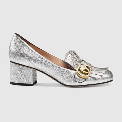 "<p><a href=""https://www.gucci.com/au/en_au/pr/women/womens-shoes/womens-pumps/metallic-mid-heel-pump-p-408208DKT008106?position=12&amp;listName=ProductGridComponent&amp;categoryPath=Women/Womens-Shoes/Womens-Moccasins-Loafers"" target=""_blank"">Gucci</a> metallic mid-heel pump, $885</p> <p></p>"