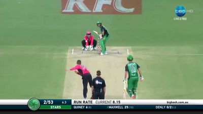 Maxwell makes BBL point in Stars loss
