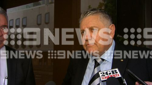 Ray Hadley outside court today.
