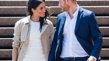 Prince Harry and Meghan Markle at the Opera House in Sydney