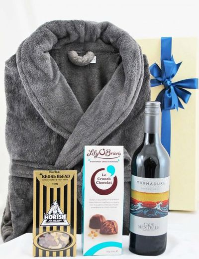 """<a href=""""https://www.alittleluxury.com.au/products/mens-robe-wine-pamper-hamper&amp;recipient=fathers_day_gifts&amp;page=1"""" target=""""_blank"""">Men's Robe and Wine Pamper Hamper, $99.</a>"""
