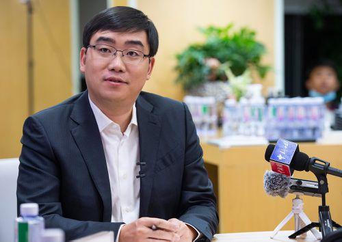 Cheng Wei, chairman and chief executive officer of Beijing Xiaoju Keji Didi Dache Co., speaks during an interview in 2020 in Beijing, China.