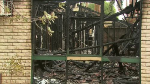 The blaze gutted the Skye Road home. (9NEWS)