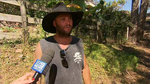 Local Matt Sherlock decided to stay behind the defend properties from fire. (9NEWS)