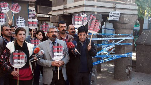 Tahir Elci was speaking at a press conference when he was gunned down. (AAP)