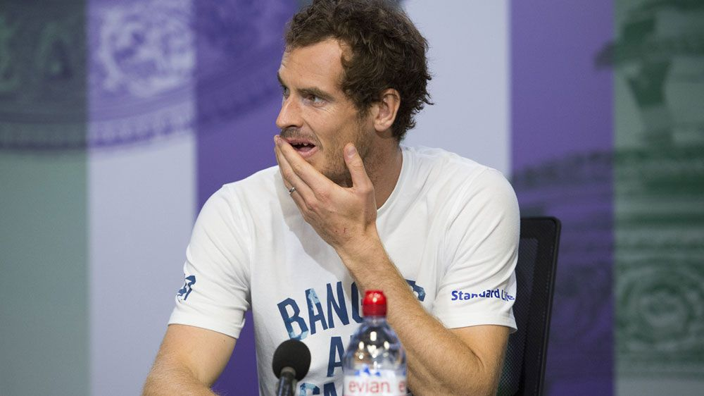 Andy Murray corrects reporter after loss to American Sam Querrey at Wimbledon