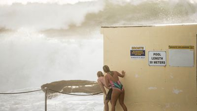 Beaches close as six-metre waves smash NSW coast