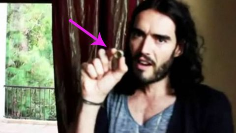 WATCH: the moment Russell Brand removed his wedding ring