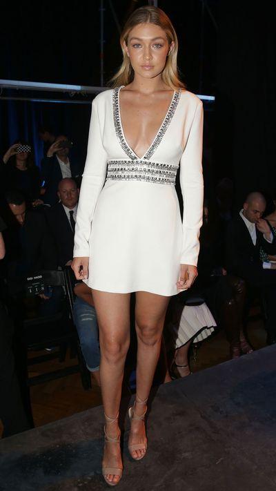 <p>Gigi Hadid in Guess</p>