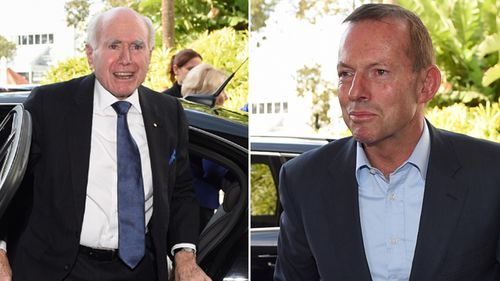 Former prime ministers John Howard and Tony Abbott attended the official launch. (AAP)