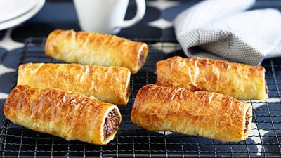 "Recipe: <a href=""http://kitchen.nine.com.au/2016/05/13/12/55/family-sausage-rolls"" target=""_top"">Family sausage rolls<br /> </a>"