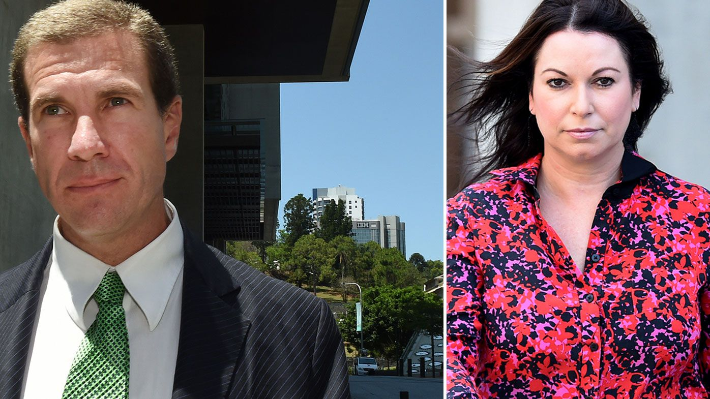 Former Billabong boss Matthew Perrin insists his ex-wife Nicole Bricknell (left) knew exactly what he was doing and gave him permission to sign the mortgage on the $15 million property on her behalf. (AAP)