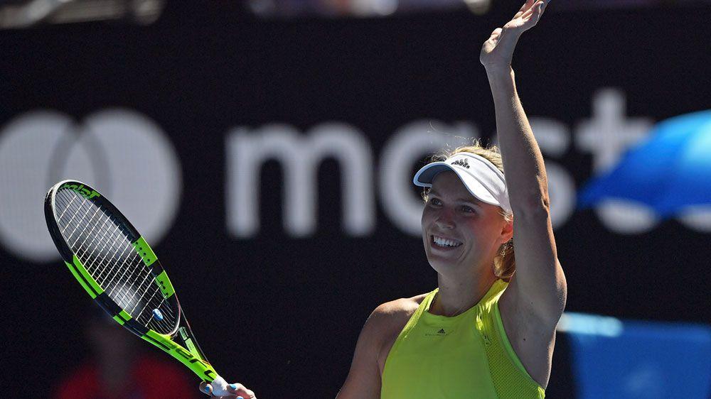 Wozniacki scrapes into Open third round with win over Jana Fett