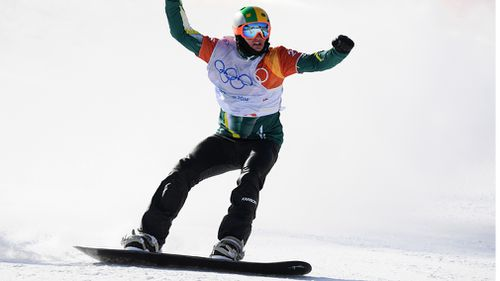 The 22-year-old negotiated the course as his competitors crashed out to seal a silver medal, and Australia's third of the games (AAP).