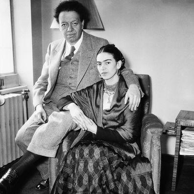 Diego Rivera and Frida Kahlo.