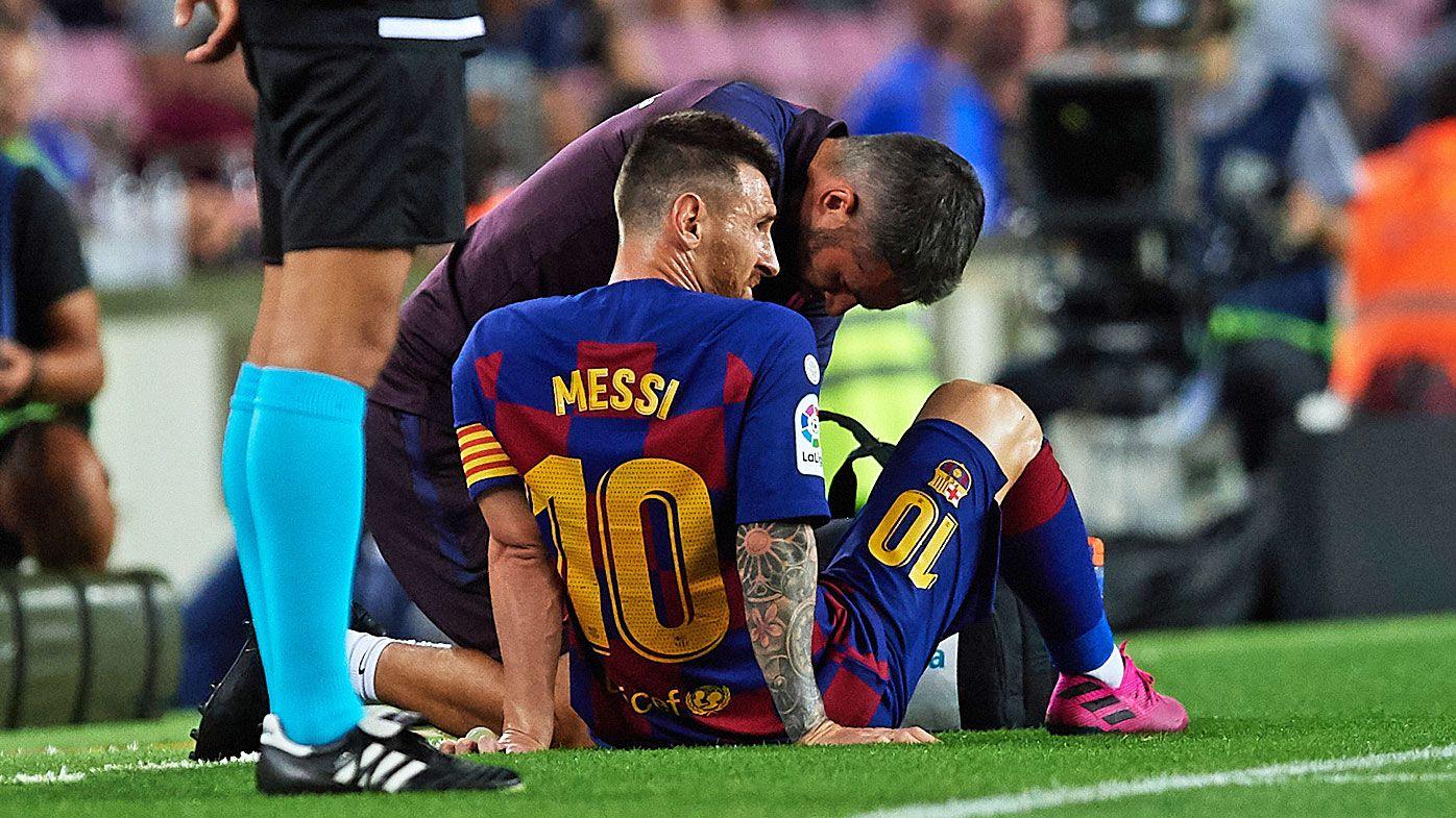 Lionel Messi injured as Barcelona beat Villareal in La Liga