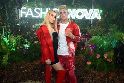 Tana Mongeau and Jake Paul party in Hollywood