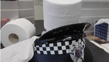 A Melbourne police station has offered free toilet paper to those who may be missing out – with one condition.