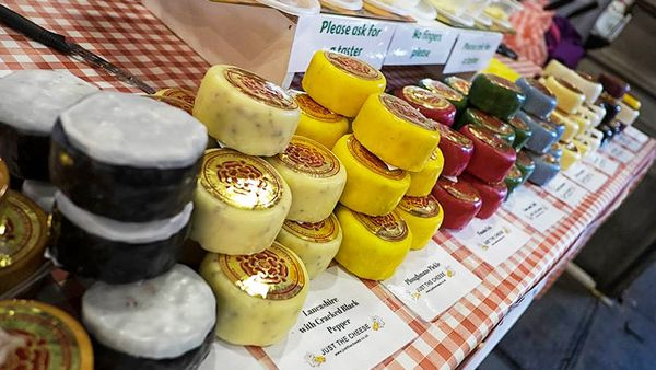 Cheeses for sale at Castlefield Market (Facebook)