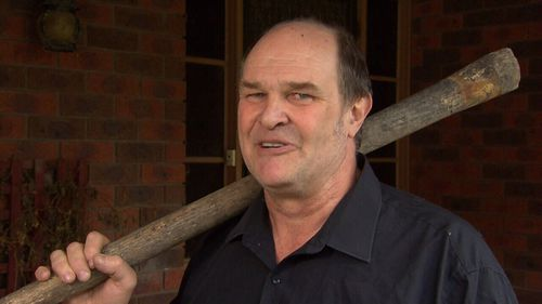 James has armed himself with a pick-axe handle after a puppy was stolen from his property.
