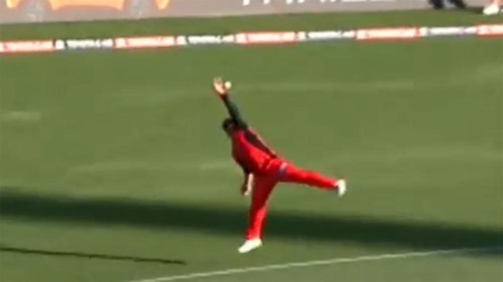 Melbourne Renegades captain Aaron Finch takes BBL screamer against Sydney Sixers