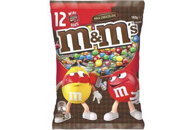 Mini bag of M&M's: Almost 2.5 teaspoons of sugar