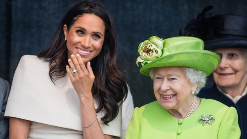 The Queen and her granddaughter-in-law seemed to have a great time together. Picture: Getty