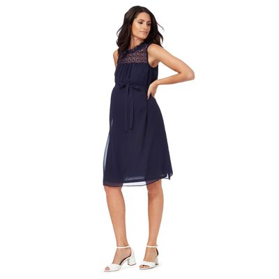 "<a href=""http://www.debenhams.com/webapp/wcs/stores/servlet/prod_55555_10001_103030893943_-1002"" target=""_blank"">Red Herring Maternity Navy Lace Yoke Dress, $79.20.</a>"