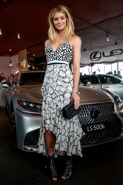 <p>No. 4. Elyse Taylor</p> <p>The Victoria's Secret favourite and Australian supermodel was the epitome of unforced style in the Lexus marquee wearing Alex Perry and incredible Giambattista Valli shoes on Cup Day.</p>