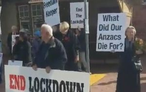 Anzac Day lockdown protest organisers fined