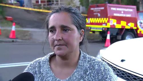 Mother of five Lilliana Lopez burnt her hand trying to put out the fire. Picture: 9NEWS