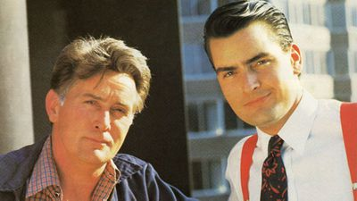 <p>Charlie and Martin Sheen</p>