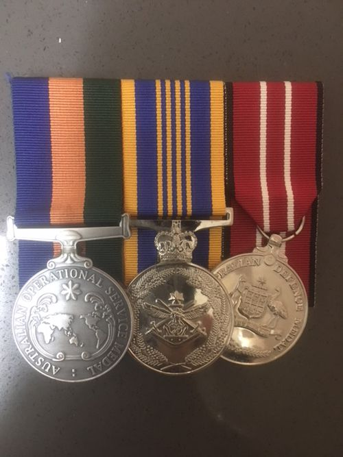 A navy officer has returned home after service to find his property ransacked, and his great-grandfathers' World War One medals stolen.