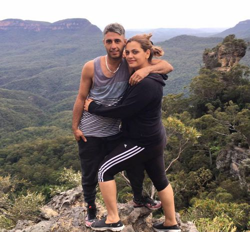 The happy couple are snapped on trips to the Blue Mountains. (Facebook)