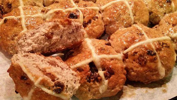Gluten free hot cross bun