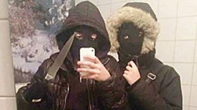It took police on 47 minutes to track down a 16-year-old and her 17-year-old accomplice after they robbed a fast food restaurant at knifepoint. When police found the two teenage girls in a unit near the scene of the crime they also found photo evidence on their mobile of a selfie with two girls wearing balaclavas as well as instructions on how to commit robberies and avoid detection. (Halmstad Police)