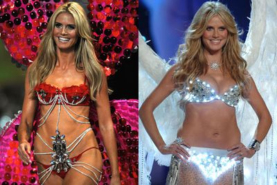 Heidi Klum won't be strutting down the runway in sexy lingerie anymore because she finds it to be a 'bit uncomfortable'... Women round the world rejoice, men sob in a heap. <br/><br/>But because we feel bad for the blokes, we've round-up the former VS model's sultriest catwalk moments for you to reminisce (drool) over... check them out! <br/>