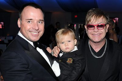 Little Zach got suited up just like his dads. <i>Adorable!</i><br/><br/>Elton was the host of the 20th Annual Elton John AIDS Foundation Academy Awards Viewing Party.