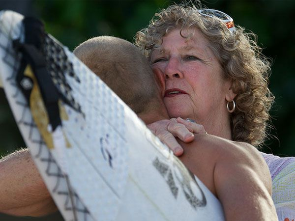 'I thought I had lost him,' says Fanning's mum of shark attack