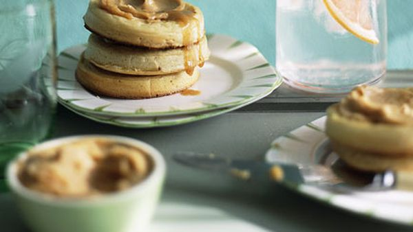 Crumpets with whipped maple butter
