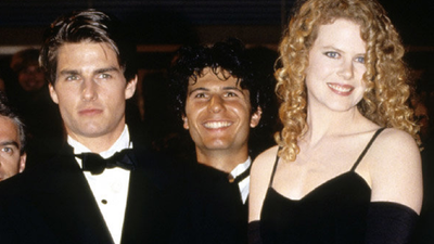 "The actress at her first Cannes film festival in 1992, with then-husband Tom Cruise, promoting their film 'Far and Away'.<span class=""Apple-tab-span"" style=""white-space:pre;"">	</span>"