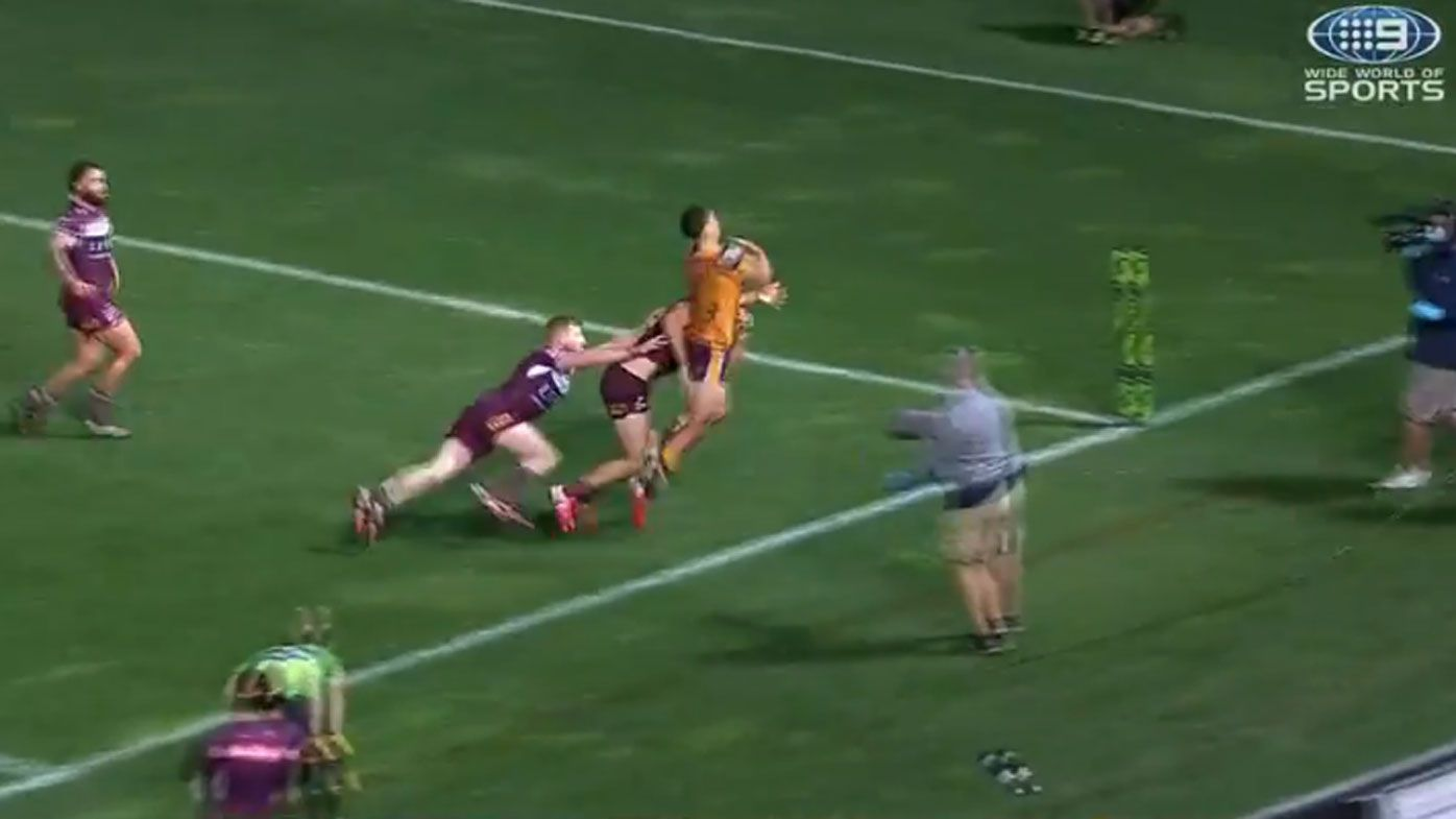 Brisbane star Joe Ofahengaue: Tom Trbojevic match-saving tackle was a 'shoulder charge'