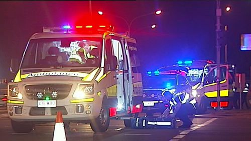 Emergency services at the scene this morning. (9NEWS)