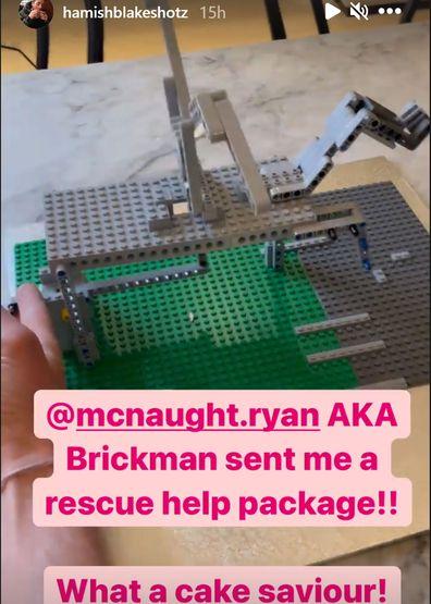 Hamish Blake cake Brickman LEGO