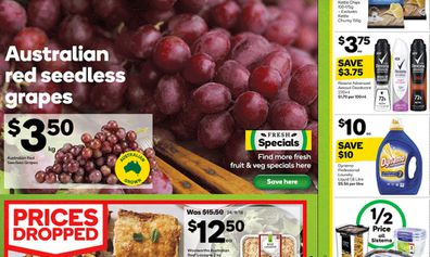 This week at Woolies they have in-season grapes in a range of varieties.