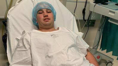 Hayden underwent major surgery just days after his 16th birthday.